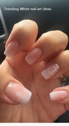 nails french tip glitter ~ nails french tip . nails french tip color . nails french tip with design . nails french tip glitter . nails french tip ombre . nails french tip acrylic . nails french tip coffin . nails french tip short Nail Design Glitter, Bling Nail Art, Bling Nails, My Nails, Matte Nails, Nude Nails With Glitter, Gold Nail, Blush Pink Nails, Kylie Nails