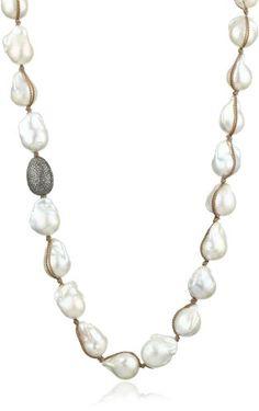 "Jordan Alexander Freshwater Cultured Pearl and Champagne Diamond Necklace, 39"" Jordan Alexander http://www.amazon.com/dp/B005XVD71K/ref=cm_sw_r_pi_dp_JIvkub1CW02A6"