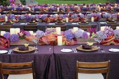 Tiered seating for corporate event at the Four Seasons on Kona, Hawaii. Linen provided by www.bbjlinens.com.