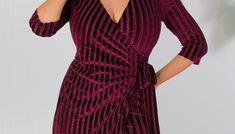 Rochie MBG bordo cu insertii din catifea si detaliu in forma de fundita in talie Wrap Dress, Dresses, Fashion, Tulle, Vestidos, Moda, Fashion Styles, Dress, Fashion Illustrations