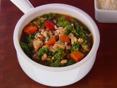 Turkey, Kale and Brown Rice Soup from FoodNetwork.com