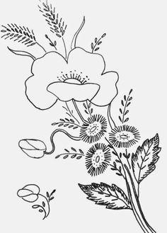 Bits of Stitching!: Pretty Vintage Poppy Pattern