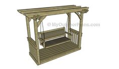 Arbor Swing Plans | MyOutdoorPlans | Free Woodworking Plans and Projects, DIY Shed, Wooden Playhouse, Pergola, Bbq