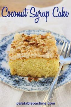 Coconut Syrup Cake #SundaySupper