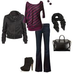 Purple & Black, casual - Looove that jacket