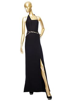 Versace Black Evening Gown