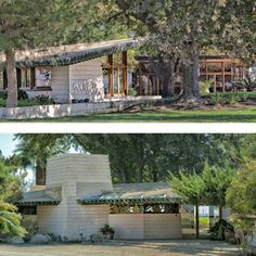 A brief history of Frank Lloyd Wright's Usonian style Randall Fawcett House in Los Banos, California - with a photo and location