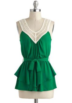 Tangled Up in Green Top, #ModCloth