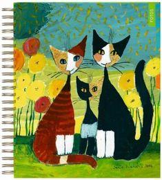 Rosina Wachtmeister - Hledat Googlem Beautiful Collage, Bird Art, Cat Lady, Painting Inspiration, Painting & Drawing, Cute Cats, Folk Art, Needlework, Kitten