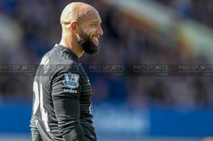 Tim Howard of Everton, during his last game for the club after 10 years of playing there.  Caught Light Photography's shot taken while working for Pro Sports Images.