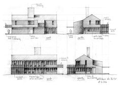 Olson Kundig Architects - Projects - Wolfeboro Residence Section Drawing, Floor Plans, Technical Drawings, Sketches, Architectural Drawings, Ark, Illustration, Projects, Image
