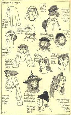 Gli Arcani Supremi (Vox clamantis in deserto - Gothian): Pettinature e acconciature del Medioevo