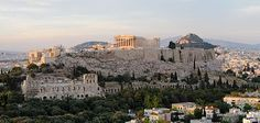 The Acropolis of Athens, seen from Philopappou hill