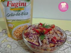 Salada de grão de bico com atum http://www.anaclaudianacozinha.com/2014/02/salada-de-grao-de-bico-fugini-e-atum.html