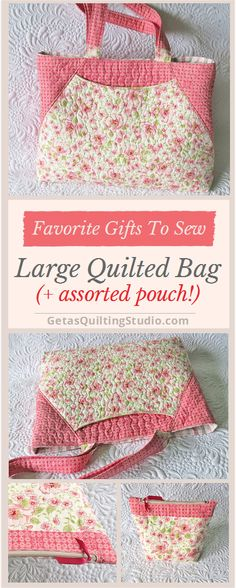 Quilted bag and an assorted zipper pouch- my favorite things to sew for gifts.