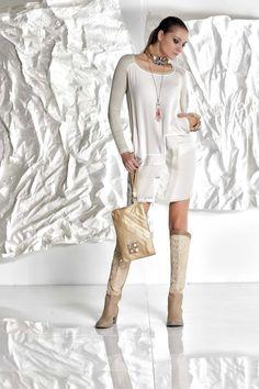 DANIELA DALLAVALLE - #danieladallavalle #collection #fw17 #elisacavaletti #woman #chick #dress #fashion #details #detailsmatter #art #highboots #necklace #funfur #bracelet #purse #jewelry