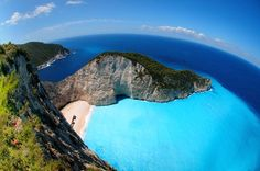 Shipwreck Cove, Zakynothos Island, Greece.   Voted one of the most beautiful places on Earth.