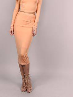 Shop Camel Ribbed Knit Midi Pencil Skirt online. SheIn offers Camel Ribbed Knit Midi Pencil Skirt & more to fit your fashionable needs.