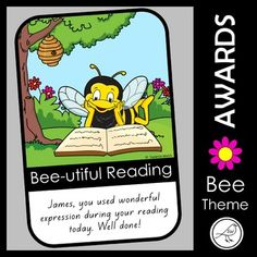 A set of gorgeous award certificates for your students, all with a bee theme. Write the students name and a little message in the white space at the bottom of the certificate. There are two sets of certificates included in this resource. The sets have the same pictures but different wording. Set 1: