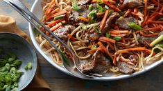 No need to call for delivery — steak, noodles, veggies and a skillet is all you need to make this Chinese take-out classic at home.