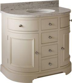 Neptune Bathroom Washstands - Chichester 960mm Undermount Curved Washstand