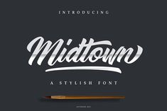 Midtown Font | Intro sale 30% Off by Lettersiro on @creativemarket