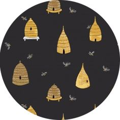Rae Ritchie for Dear Stella, Honey Bee, Bee Hives Navy