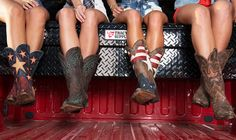 My red white & blue boots