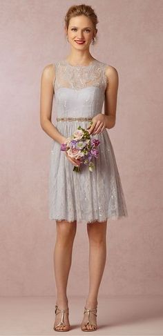 Love the detail on this | Cute bridesmaid dresses to go with the lace theme!