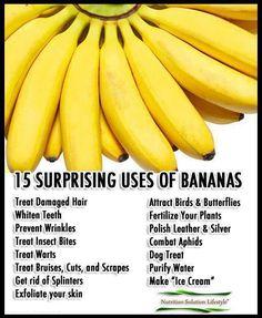 15 surprising uses of  BANANA'S