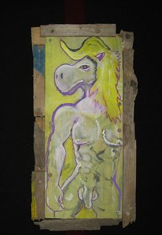 "Full Title: ""Framed Dirty Old Stallion, Well Hung and Well Screwed not at all Like Danny Hennesy!""  by MushroomBrain.deviantart.com on @deviantART"