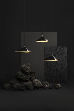 Overview of the three different Emily metal pendant lamp models by Daniel Becker Design Studio Berlin