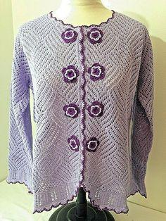 6986e46b72985 Storybook Knits Cardigan Sweater M Violet Cotton Blend Spring NWT   StorybookKnits  Cardigan