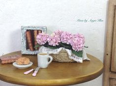 Miniature hydrangeas plant. Pink hydrangea. by MinisbyAngie