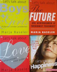 Superaanbieding: vier dikke puberboeken voor 30 euro inclusief verzendkosten. Voor je zoon of dochter. Altijd een origineel cadeautje in huis! www.marjabaseler.nl