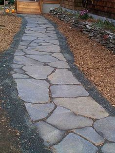 Iron Mountain flagstone walkway Flagstone walkway Flagstone and