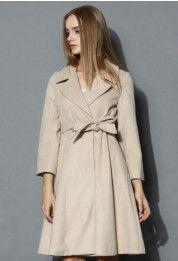 Grace Belted Wool Blend Coat