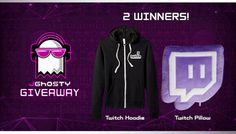 Twitch Hoodie And Pillow Giveaway. Open to all worldwide. Ends @ pm PST Twitch Hoodie, Giveaways, Competition, Graphic Sweatshirt, Hoodies, Pillows, Jr, Gadgets, Tech