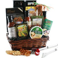 The Grilling Gourmet Grilling Gift Basket Grilling Gifts, Snack Recipes, Snacks, Gift Baskets, Customized Gifts, Unique Gifts, Goodies, Chips, The Originals