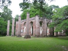 Shelton Church, South Carolina.  Founded in 1757 and burned down during the Revolutionary War, it was rebuilt from the remaining walls, then fired again during Sherman's March to the Sea in the Civil War. After that, parishioners just said the hell with it.