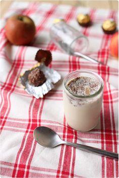 Yaourts au Ferrero Rocher Yogurt Bar, Ferrero Rocher, Granola Bars, Mousse, Cooking Time, Panna Cotta, Appetizers, Soup, Ice Cream