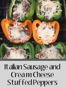 Italian Sausage and Cream Cheese Stuffed Bell Peppers Recipe – an easy weeknight… Italian Sausage and Cream Cheese Stuffed Bell Peppers Recipe – an easy weeknight meal Classic Stuffed Peppers Recipe, Cream Cheese Stuffed Peppers, Sausage And Peppers, Italian Stuffed Peppers, Sausage Recipes, Chili Recipes, Pork Recipes, Keto Recipes, Dinner Recipes