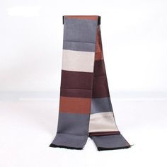 Men Women Classical Lattice Stirped Colored Interval Scarves Plaid Tassel Wraps Pashmina - Gchoic.com