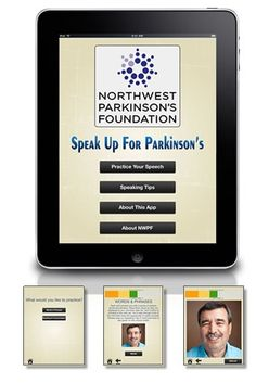 Speak Up for Parkinson's:  Great free app for those with PD to practice volume, over-articulation, etc.