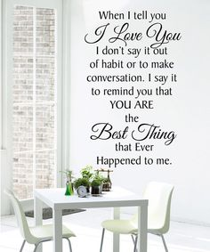 Look at this 'When I Tell You I Love You' Wall Decal on #zulily today!