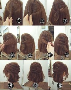 romantic hairstyles perfect for fall 3 Down Hairstyles, Braided Hairstyles, Wedding Hairstyles, Romantic Hairstyles, Easy Hairstyle, Medium Hair Styles, Curly Hair Styles, Hair Arrange, Pinterest Hair