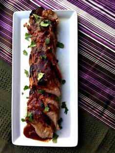 indonesian pork tenderloin-Triple the sauce next time!