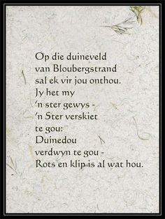 Afrikaans Language, Afrikaans Quotes, Word Of Faith, Poems, Van, African, Journal, Rock, Inspired
