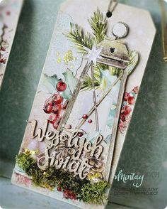 tagi_boze_narodzenie_handmade_kartki_2 A Christmas Story, Christmas Diy, Christmas Cards, Card Tags, Gift Tags, Under The Mistletoe, How To Make Snow, Christmas Scrapbook, Paper Cards