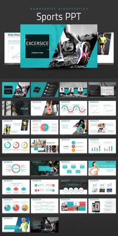 This 'Sports PPT' designed to cover presentations related to sports, fitness, physical exercise and etc. Powerpoint Design Templates, Ppt Design, Slide Design, Design 24, Layout Design, Magazine Ideas, Sports Templates, Graphic Design Brochure, Presentation Layout